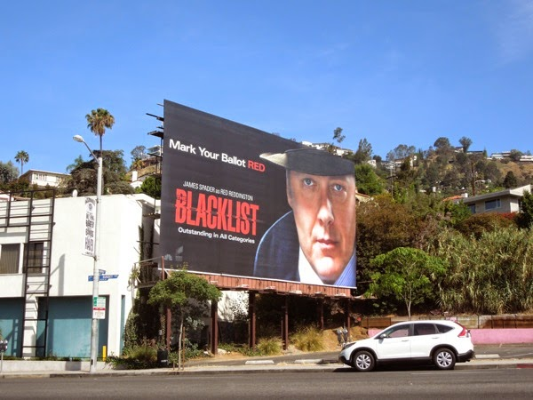 Mark your ballots Red The Blacklist Emmy 2014 billboard