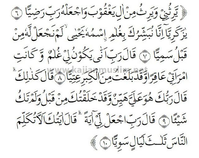 Surah Maryam In English