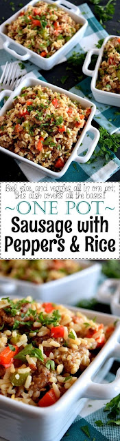 One Pot Sausage With Peppers And Rice