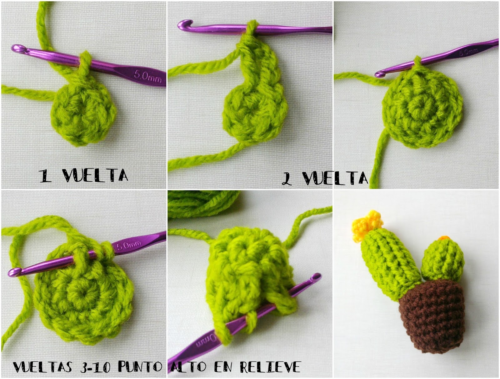 Cactus de Crochet - Tres Patrones Gratuitos !!! - Handbox Craft ...