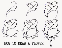 draw step flower simple rose easy learn drawing drawings roses flowers steps beginners pencil sketch doodle cool realistic zeichnen designs