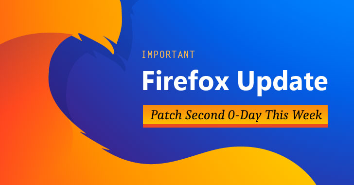 Firefox 67.0.4 Released — Mozilla Patches Second 0-Day Flaw This Week