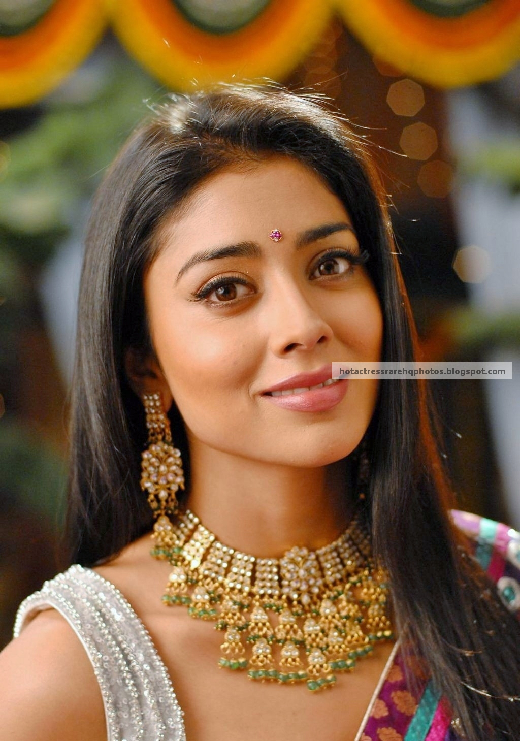 indian beauty shriya ravishing saran actress saree uhq rare hq pink