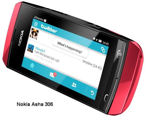 Application nokia s 306