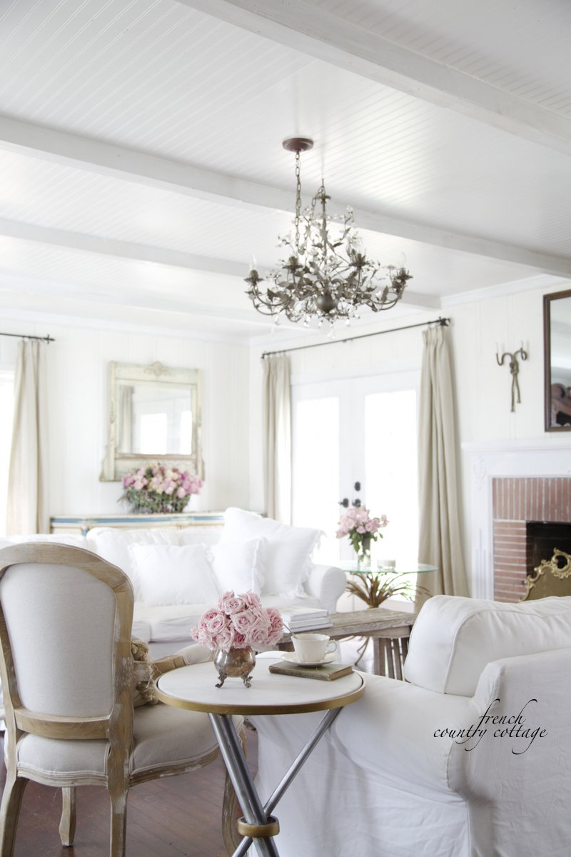 Feathered nest friday french country cottage - Decorating living room country style ...