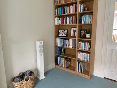 Ikea Billy bookshelves in living room