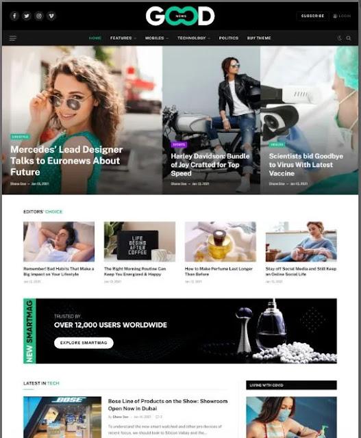 Smartmag WordPress theme free download