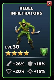 Rebel Infiltrators Mana Troop Empires & Puzzles