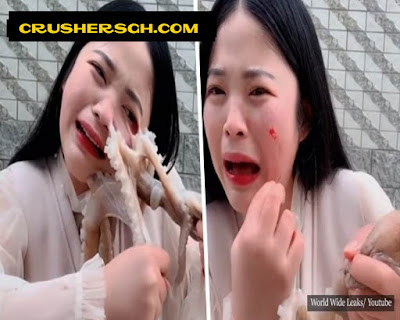 Chinese Girl Attacked By An Octopus While Trying To Eat It Alive _ Viral Video