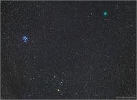 Kometa 46P/Wirtanen, zdjęcie z 12.12.2018 r. Credits: Chris Cook.  Cape Cod, w stanie Massachusetts, Stany Zjednoczone Canon 6D + 24-70 mm na 50 mm ogniskowej, ISO 2500, montaż Astro-Physics 900 QMD, eksp. 10x30 sek.