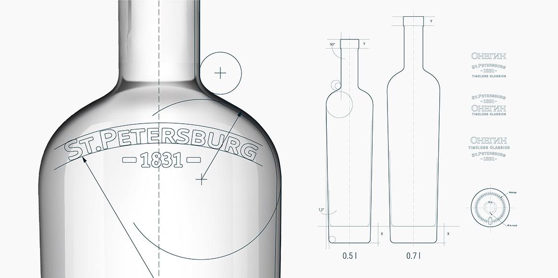 Thiết kế bao bì sản phẩm Onegin Vodka