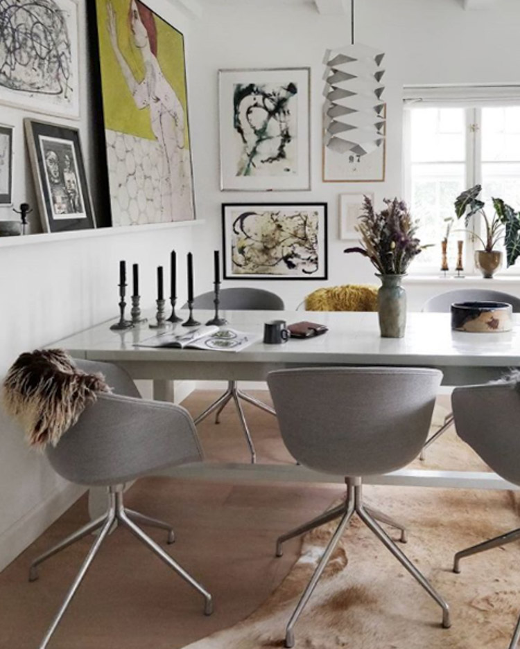 The Delightful Danish Home Of An Art And Plant Enthusiast