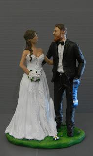cake topper eleganti sposini torta più belli coppia innamorata sciarpa napoli orme magiche