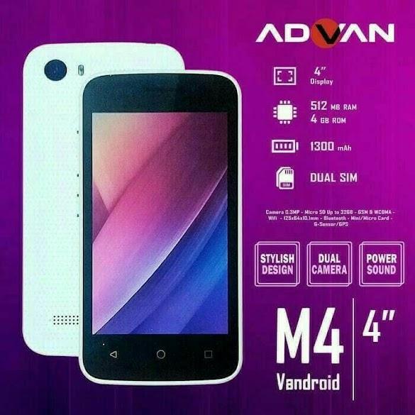 Kode Rahasia Advan i5A, s5e, s5j, s50d 4G Semua Tipe