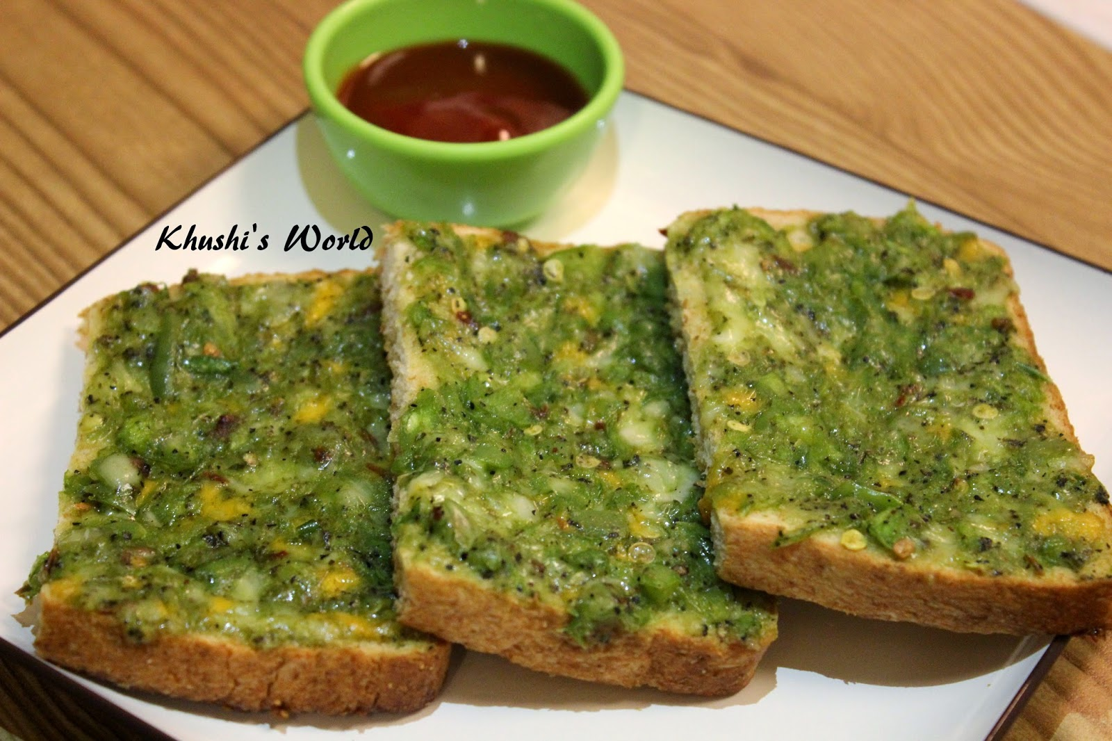 Khushi's World Cheese Chilli Toast