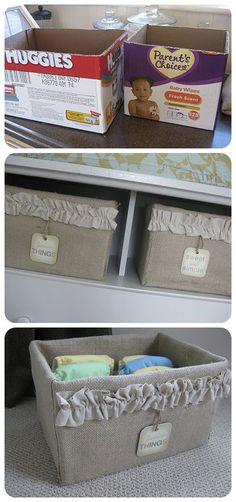 Saiba renovar a decoração de casa sem gastar muito, caixa de papelão, organizador, faça você mesmo