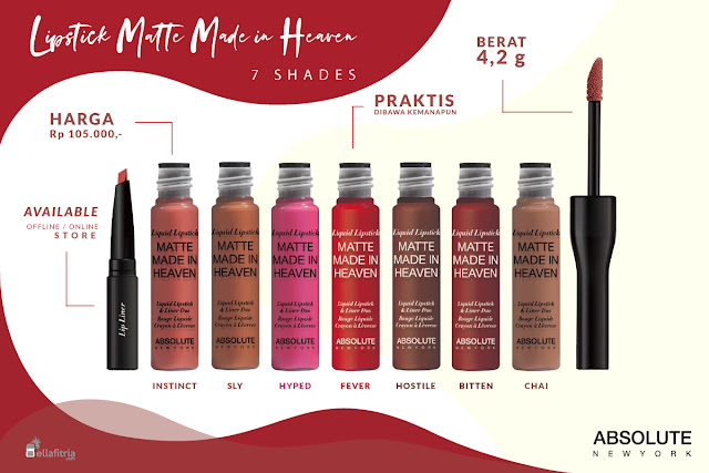 Lipstick Matte Made in Heaven 7 Shades