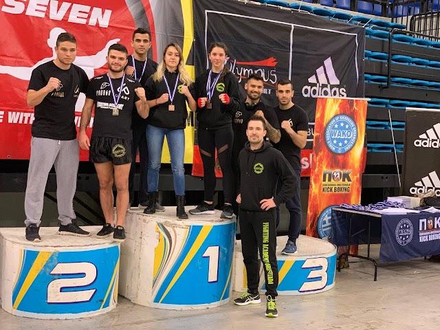 1 χρυσό, 2 αργυρά, 2 χάλκινα μετάλλια, στο  Πανελλήνιο Πρωτάθλημα KICKBOXING - η ομάδα του KICKBOXING FIGHTING ACADEMY ORESTIADA(BINTEO)