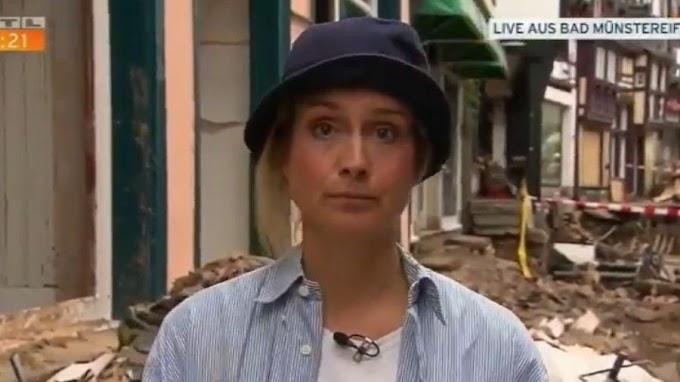 Repórter se suja de lama para fingir ajuda em área inundada e é demitida