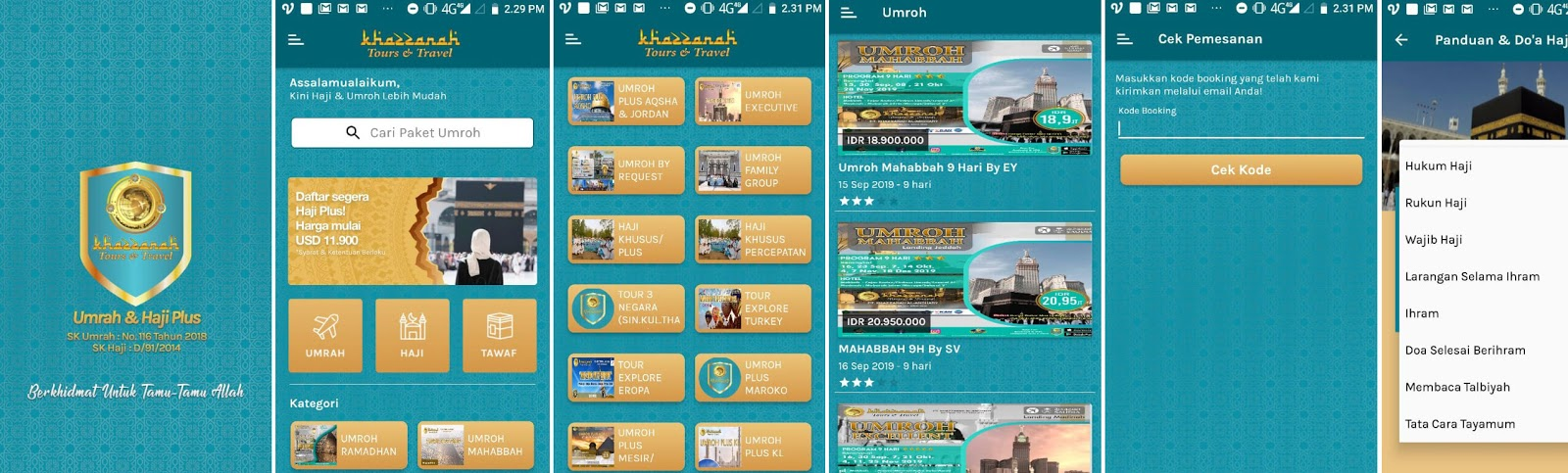 Aplikasi Khazzanah Tours