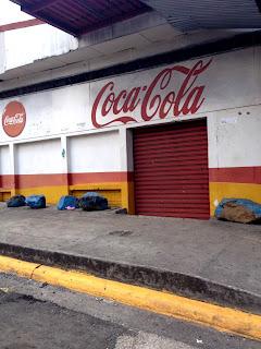 Coca Cola sign in Ciudad Colon