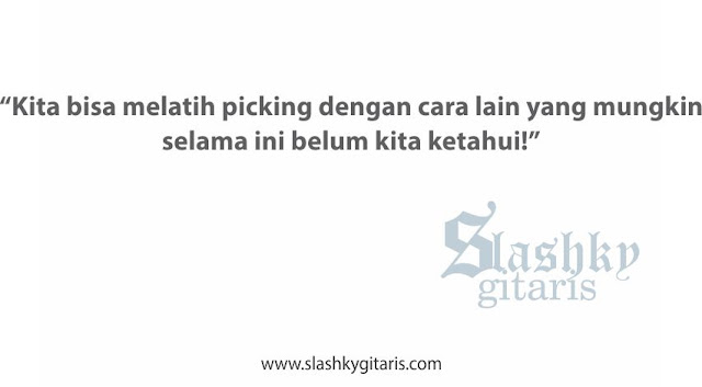 cara sederhana, melatih teknik picking, tips, teknik picking, picking, sweep picking arpeggio, kata mutiara gitar, kata bijak gitar