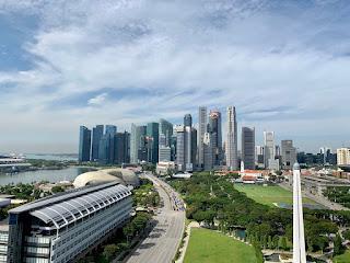 Views of the CBD area, JW Marriott Singapore Beach Road, 2021
