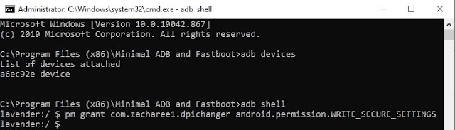 minimal adb and fastboot secure_settings