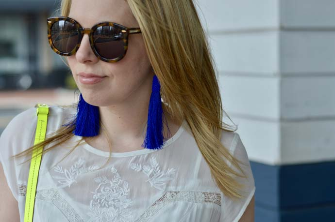 Blue Tassel Earrings BaubleBar @rachmccarthy7