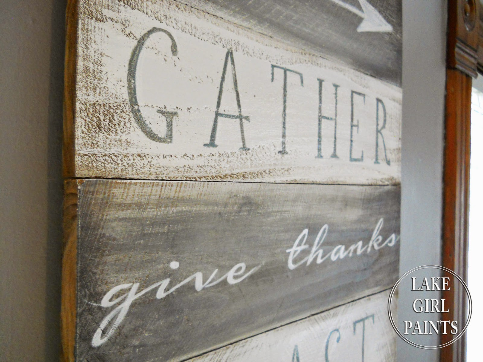 Gather Sign from Lake Girl Paints