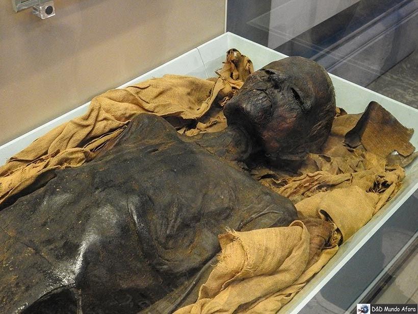 Múmia egípcia no British Museum em Londres