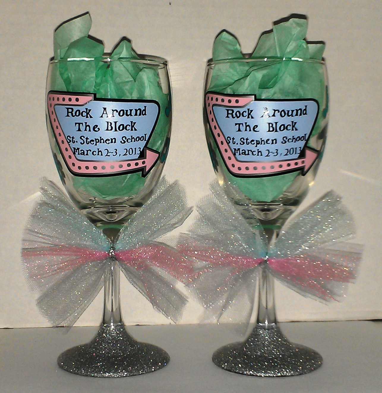 Crafty Creations By Jill 50 S Theme Wine Glasses