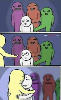 Hug Meme Template