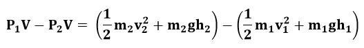 Agrupando términos en la ecuación de Bernoulli