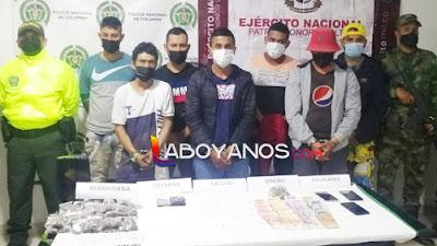 """Desarticulan banda """"Los Titis"""" que expendía drogas en Suaza"""