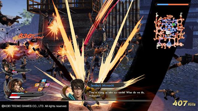 Sandayu Momochi Hideyoshi Hashiba Conjunto Samurai Warrior 5 Nitendo Switch