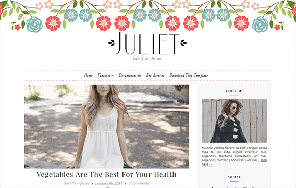Juliet Blogger Template