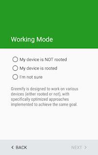 Greenify Screen