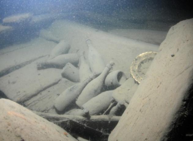 На дне моря под Очаковом до сих пор покоится редкостная коллекция марочных вин
