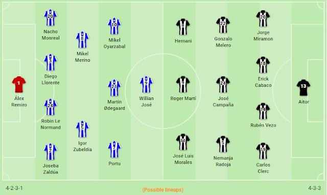 Prediksi Real Sociedad vs Levante — 31 Oktober 2019