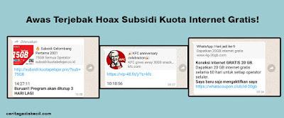 Lifestyle Blogger Medan – Awas Terjebak Hoax Subsidi Kuota Internet Gratis!