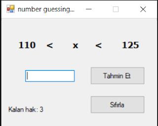 c# sayı tahmin oyunu -2