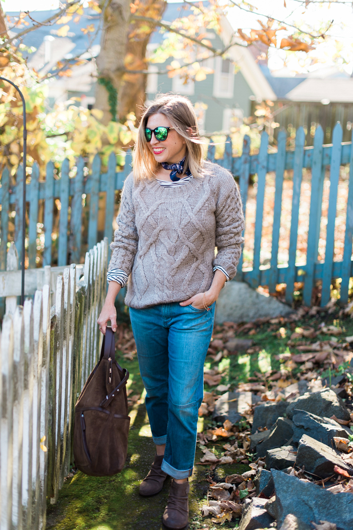 Garnet Hill Highlands Cable Sweater