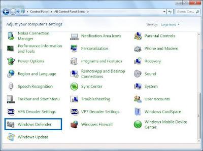 Cara Mengaktifkan Windows Defender di Windows 7