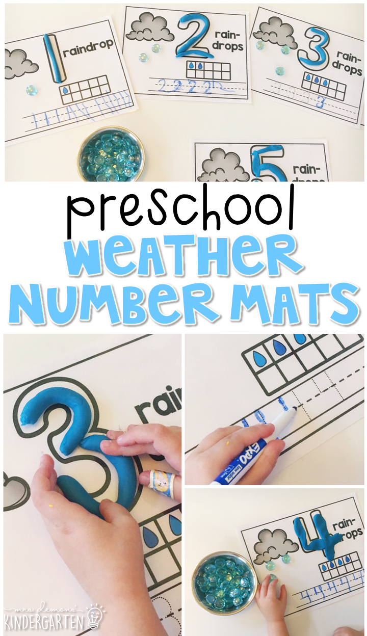 These weather number mats are a super fun way to practice number  identification, counting,