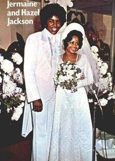 Wedding picture of Hazel Gordy & Jermaine Jackson