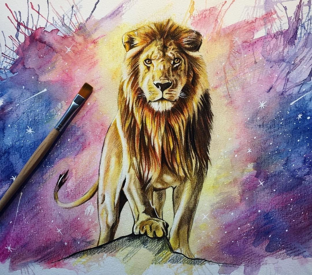 11-Lion-Liam-James-Cross-Wild-Animals-Drawings-and-Paintings-www-designstack-co