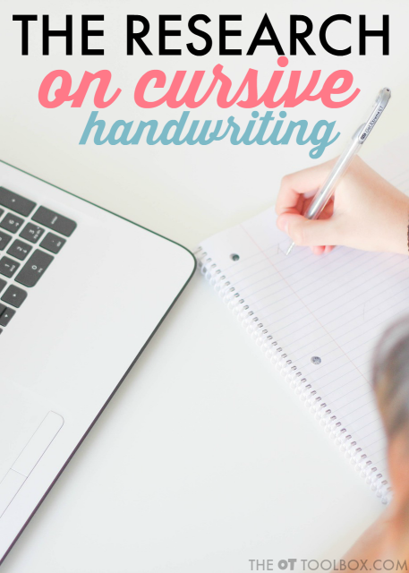Use this research on cursive handwriting to get a better understanding of what is going on in the brain as we learn cursive, cursive handwriting development, and how cursive can help with learning.