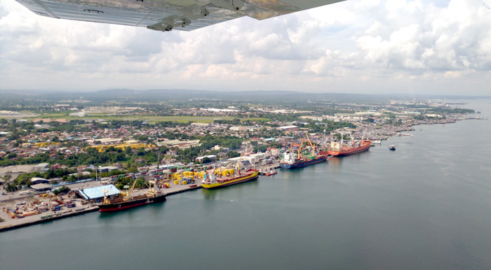 Davao City Port from above