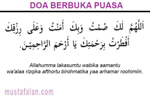 Niat Puasa Ramadhan Dan Doa Berbuka Yang Benar Mustafalan
